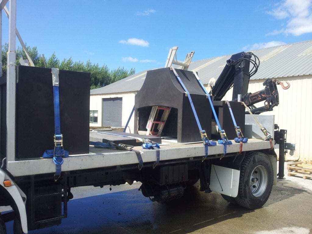 Flare Outdoor is being transported to location for installation
