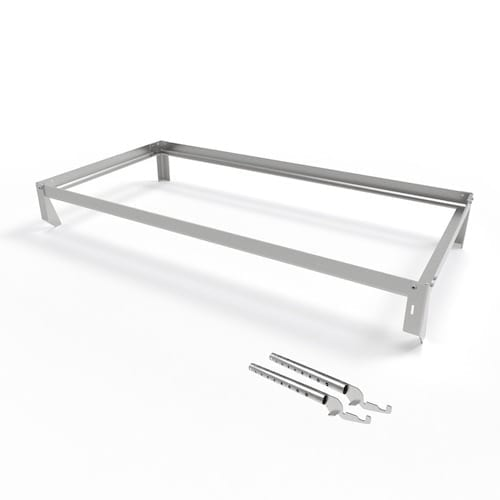 This large cooking frame with handles are handy for cooking on Outdoor fireplace.
