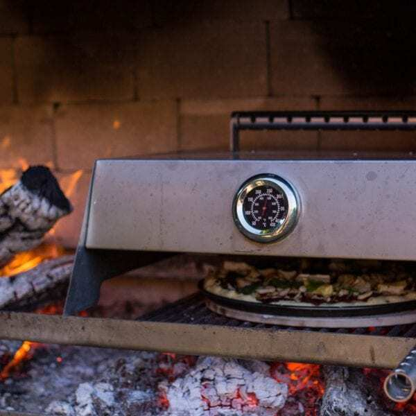 Monitor the temperature while Cooking on an Outdoor Fireplace
