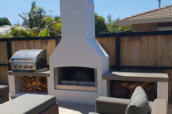 Entertainment area with a beautiful executive Outdoor Fire