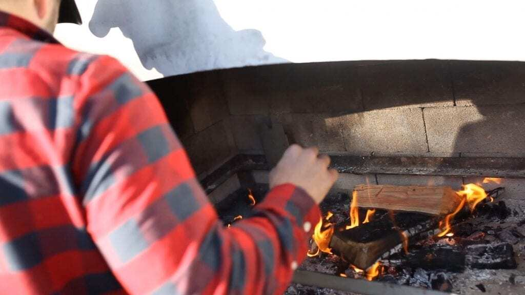 Cooking on an outdoor fire place is a wonderful experience.