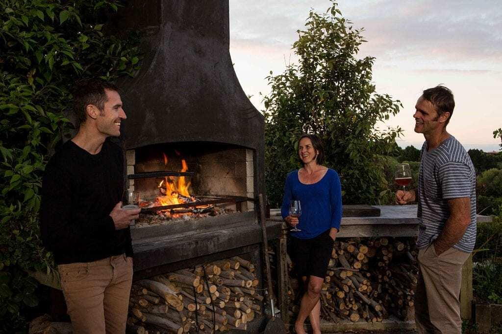 Hangout with your friends on a Nice evening and wood burning in the Fireplace