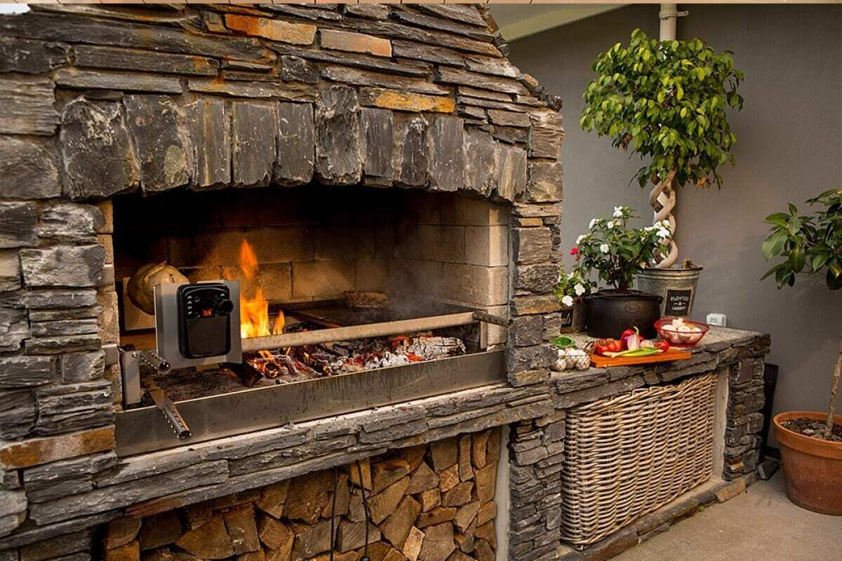Cooking on an outdoor fire place is an exciting experience.