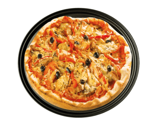 Cook pizza with a Pizza crisper on a Flare Outdoor Fire