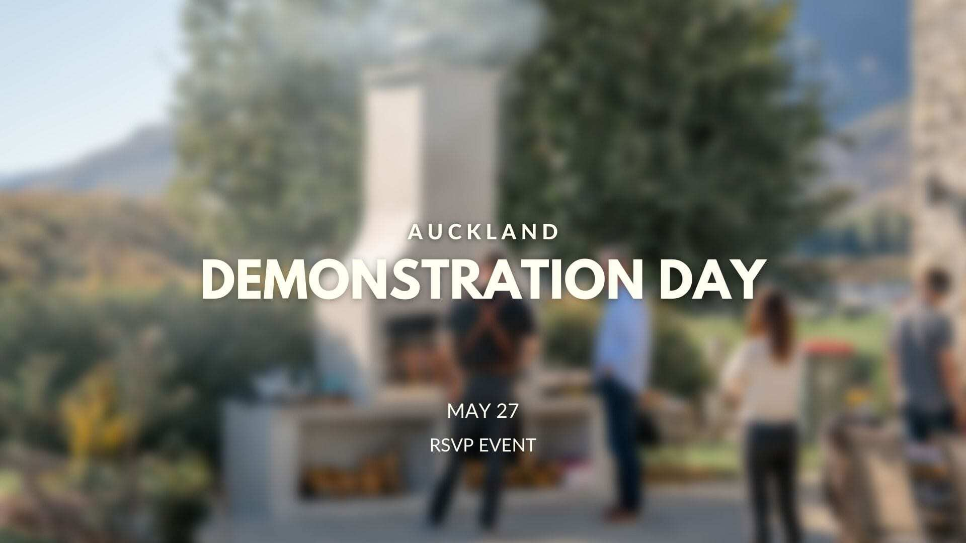 Flarefires Outdoor Fireplaces Demonstration Day Auckland on May 27