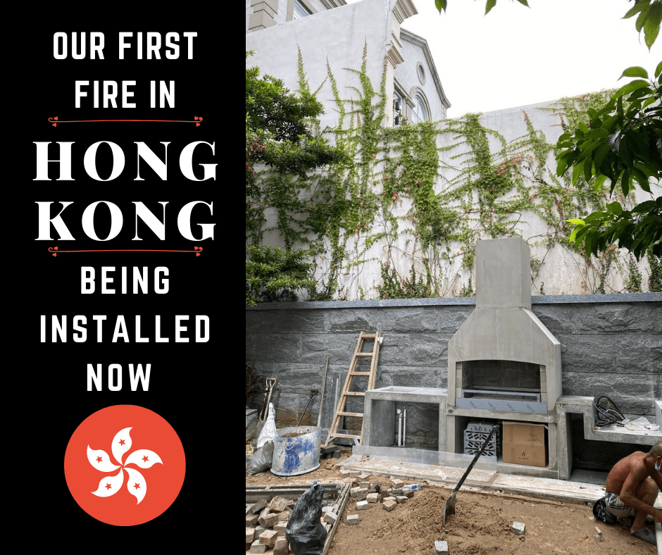 First Flare Outdoor fire in Hong Kong is being installed