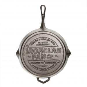 Cook on an Outdoor fire with the Ironclad Legacy pan