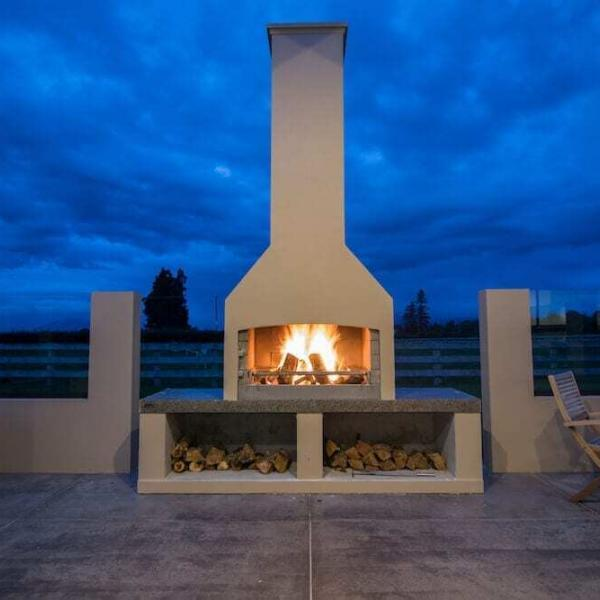 Outdoor Fire with a beautiful evening sky backdrop