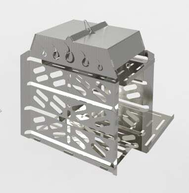 Smoker kit for Flare Outdoor Fire