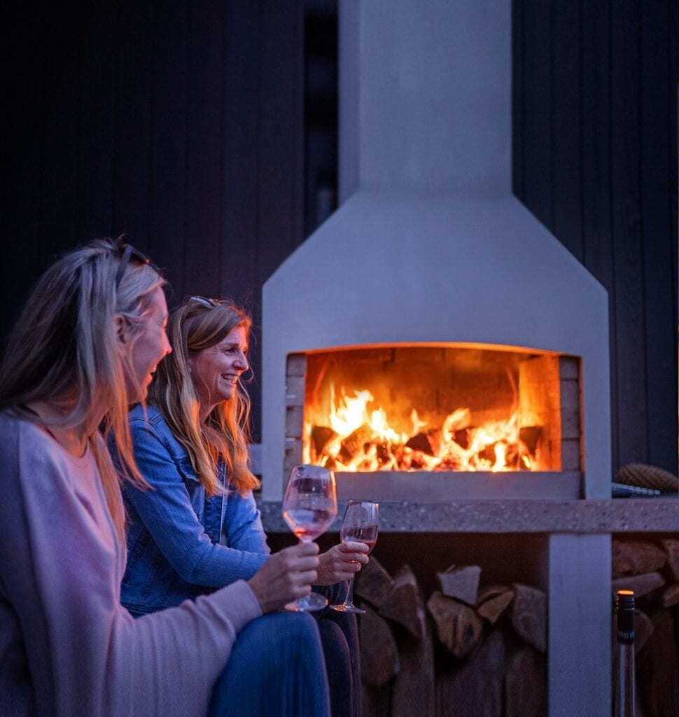 Enjoying an evening with Flare Outdoor Fires