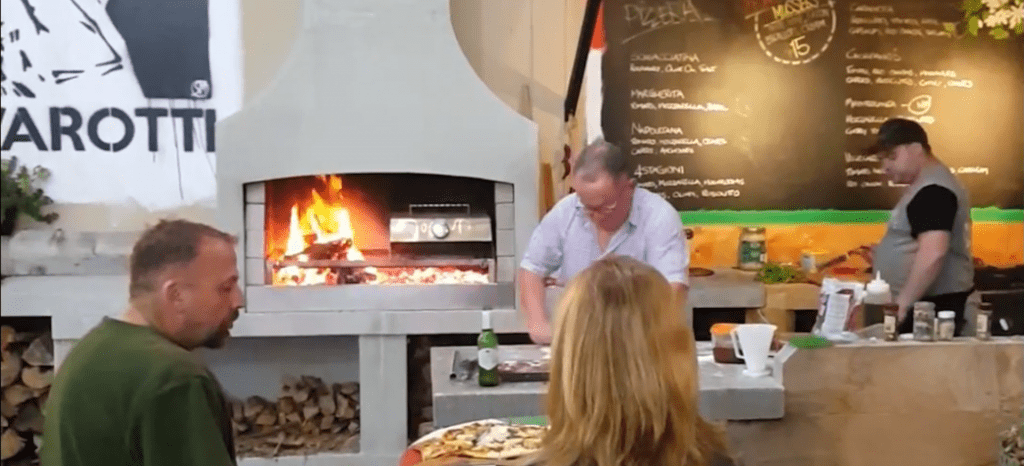 Enjoy tasty food cooked on an outdoor Fireplace